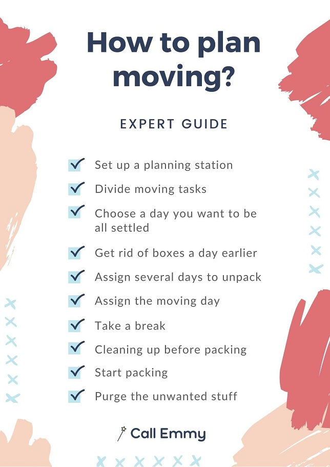 Infographic Of How To Plan Moving